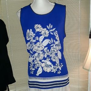 🆕️ NWT Liz Claiborne royal blue floral tank top
